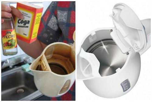 Как почистить чайник в домашних условиях содой  906
