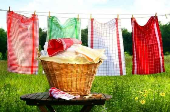 Выстиранные полотенца