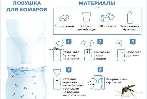 Ловушка для комаров на природе своими руками