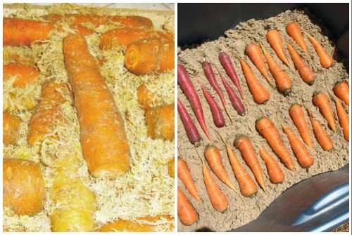 морковь в опилках и песке