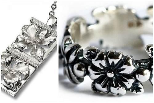обычное и черненое серебро