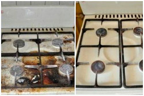 как можно отмыть плиту