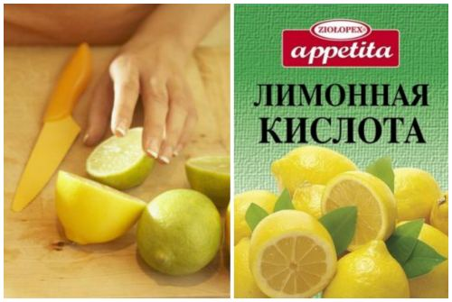 лимон и лимонная кислота