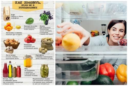 хранение вне холодильника
