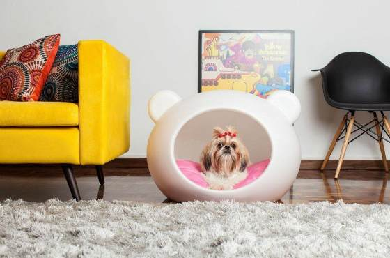 круглая лежанка для собак