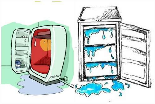 вода из холодильника