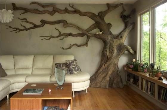 Искусственное дерево в интерьере