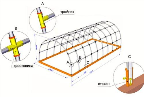 схема монтажа труб