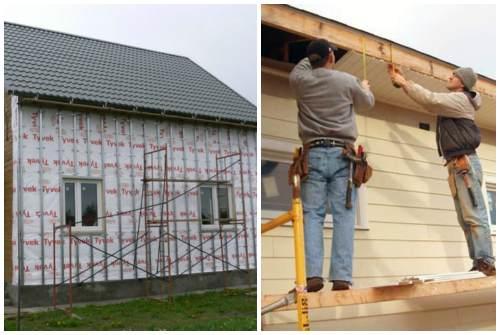 облицовка фасада и фронтона