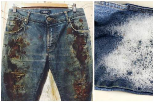 чистка джинсов