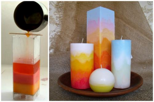 Радужные свечи