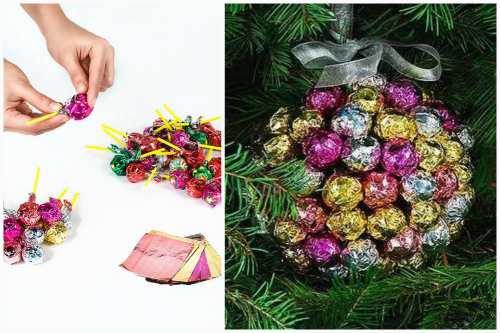 шарик из конфет