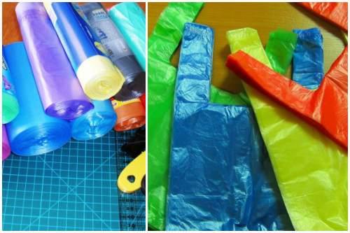 разноцветные мешочки