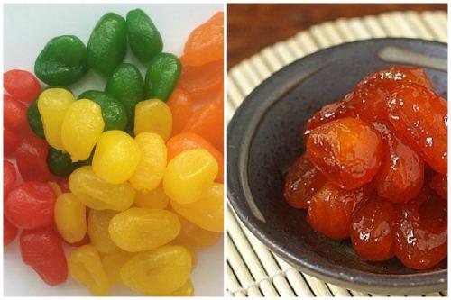 сушеные фрукты и варенье