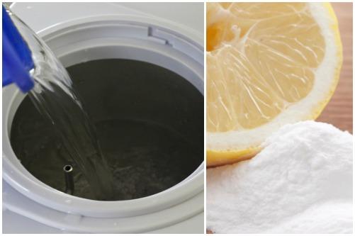 заполнение раствором лимонной кислоты