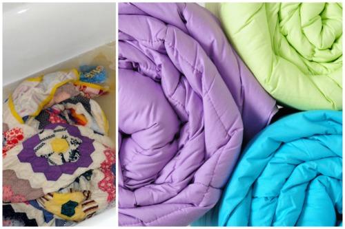 чистые одеяла