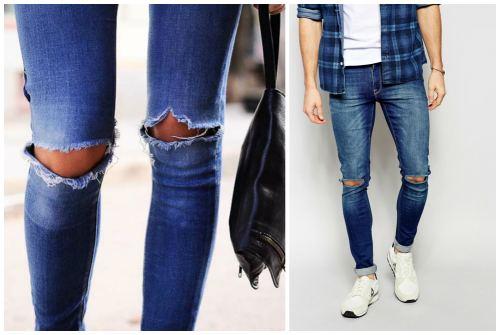 женские и мужские штаны