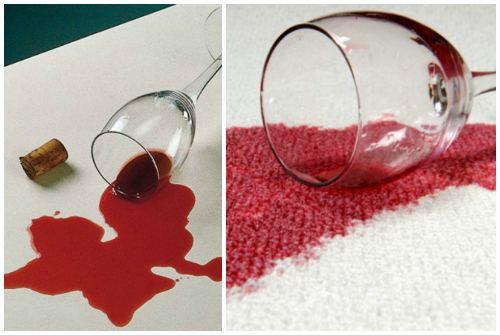 клякса от вина