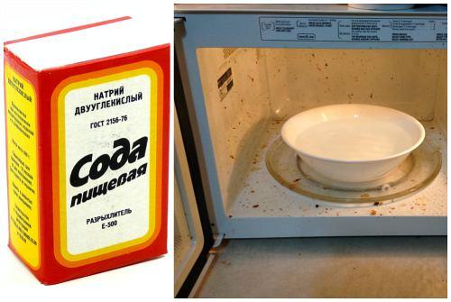 мытье микроволновки