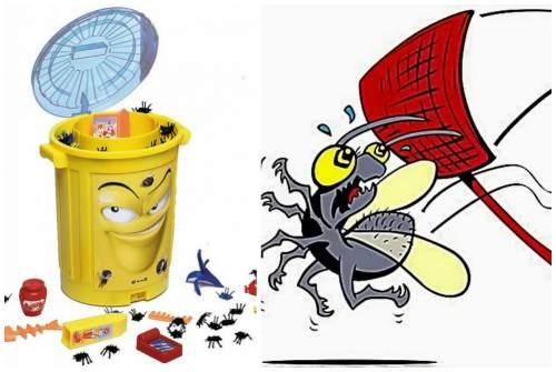 мусор- место жительства мух