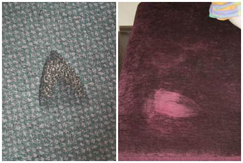 следы на ковре и диване