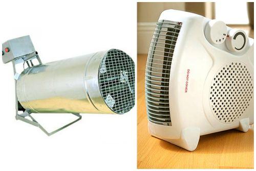 тепловентилятор и нагреватель