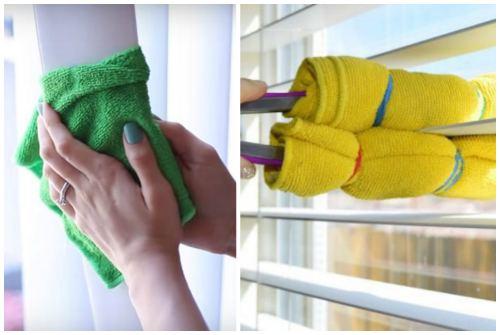 вытираем полотенцем