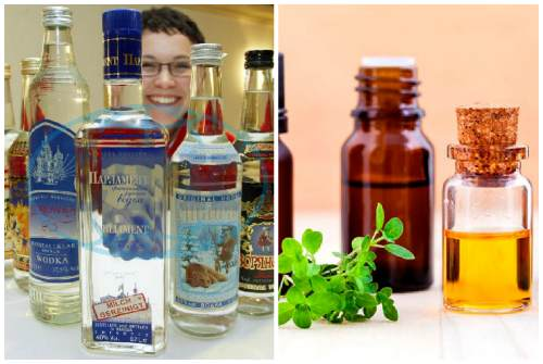 водка и эфирные масла