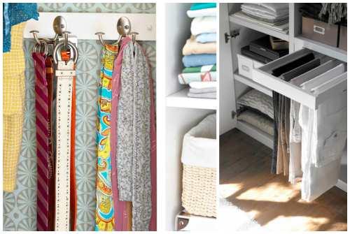 хранение шарфов и вещей