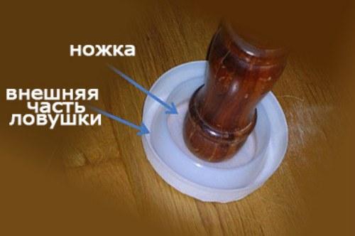 Расположение частей ловушки