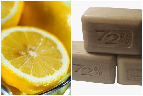 лимон и хозяйственное мыло