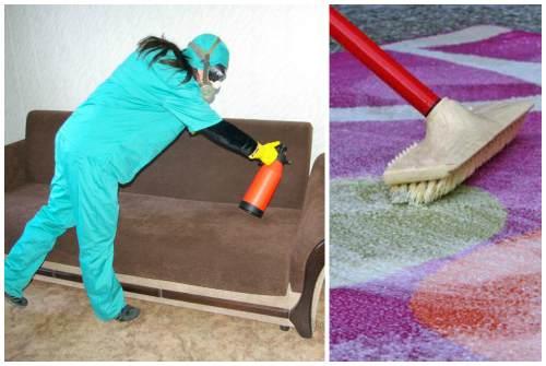 обработка мебели и ковров