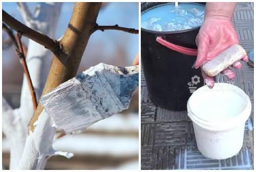 обработка известью и мылом