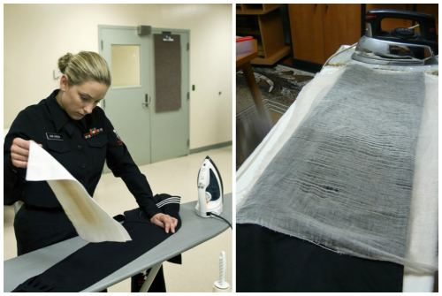 применение ткани или марли