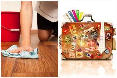 уборка и проверка чемоданов
