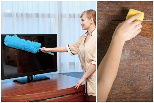 очистка техники и мебели