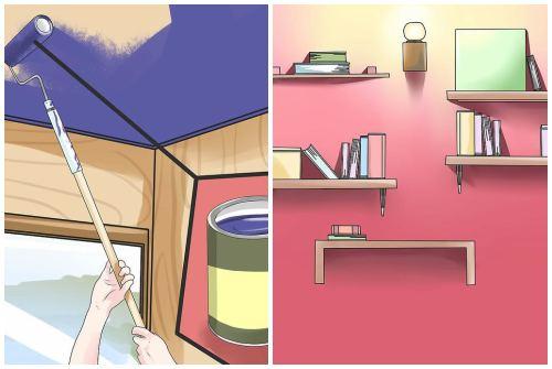 потолок и стеллажи