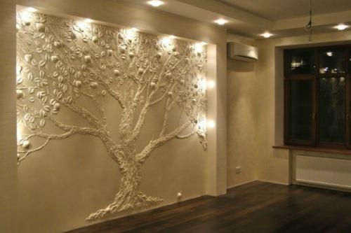 3D дерево на стене