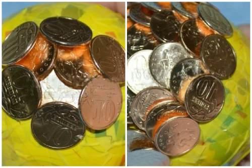 Обклеивание монетками