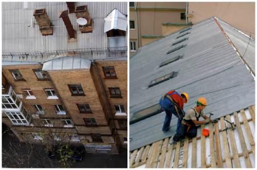 Ремонт крыши многоэтажного дома