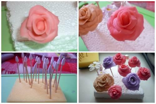 яркая роза