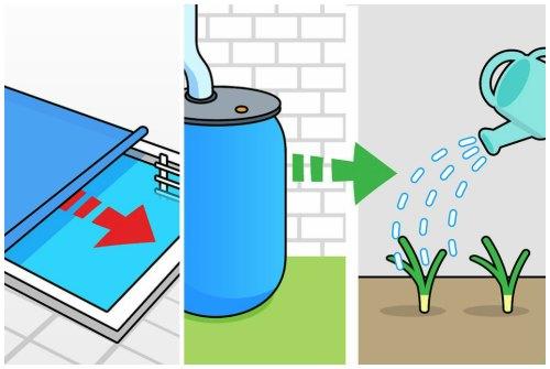 бассейн и дождевая вода