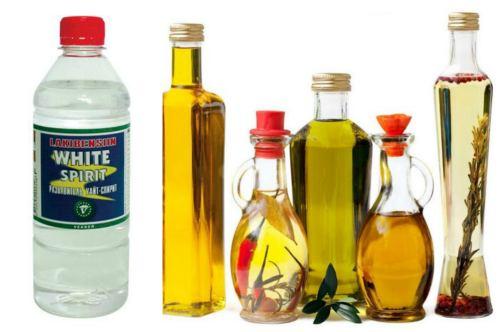White Spirit и масло