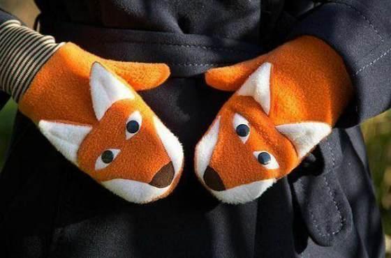 флисовые рукавицы