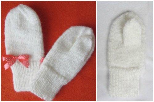 утепление вязаных рукавиц