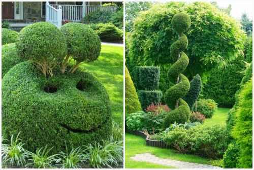 зеленые скульптуры
