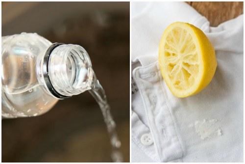 уксус или сок лимона