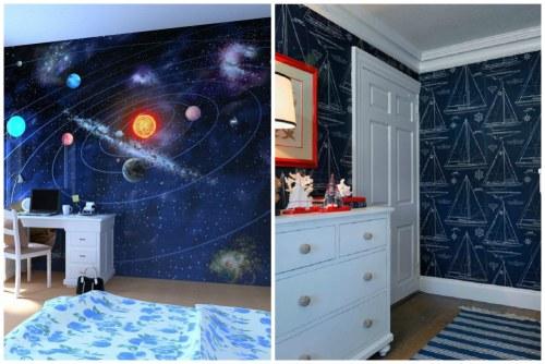 синие цвета в оформлении комнаты