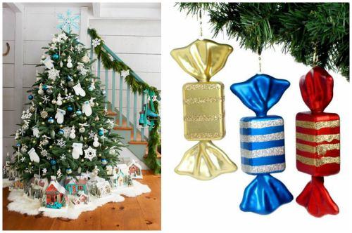 Конфеты и подарки на ёлке