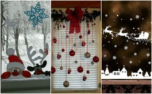 Новогодние окна в детской